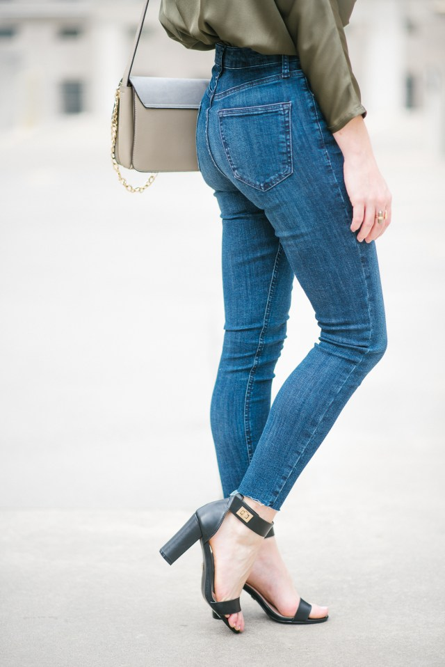 Day to Night Work wear jumpsuit style, How to style a jumpsuit, High waisted jeans