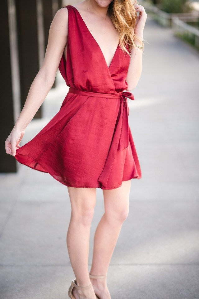 Red Valentine's Day Dress, Fun and flirty Valentine's Day date night dress