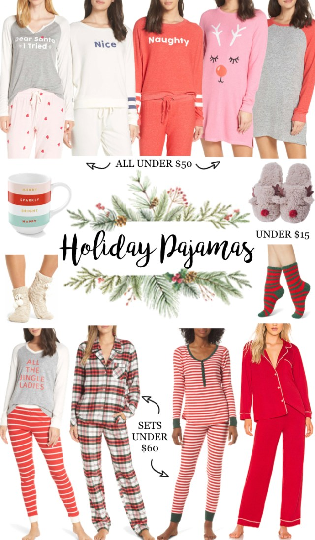 Affordable Holiday Pajamas