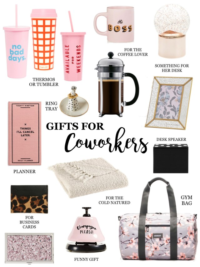 Gift Guide for coworkers, employees, bosses and business acquaintances