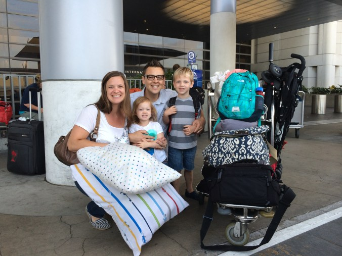 At LAX with the family