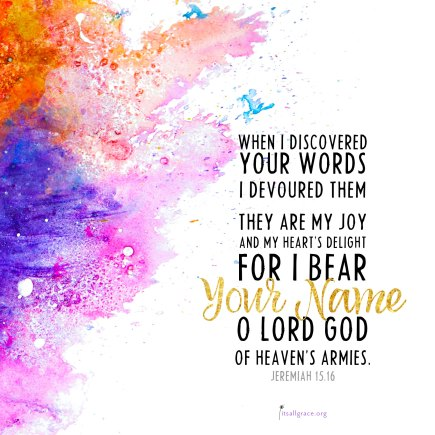 Image result for Jeremiah 15 16
