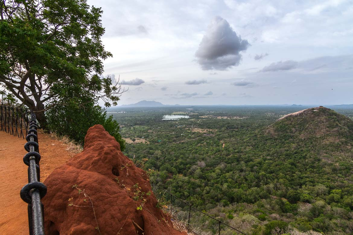 This photo shows the spectacular view from the top of Sigiriya rock to the incredible nature of Central Sri Lanka.