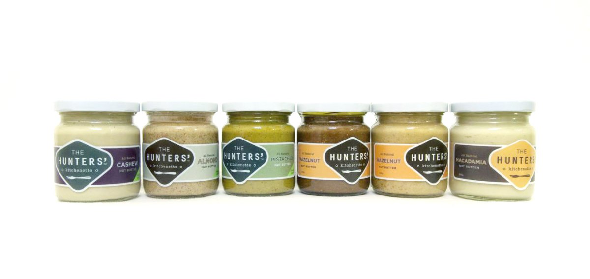 Nut Butters made in Singapore by Hunter's Kitchenette
