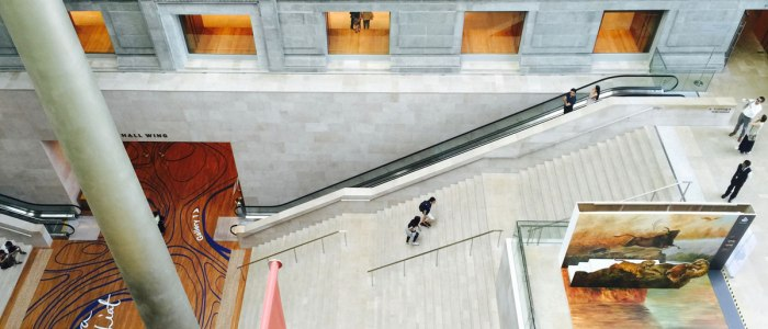 The National Gallery in Singapore is a stunning renovation of a historic space.
