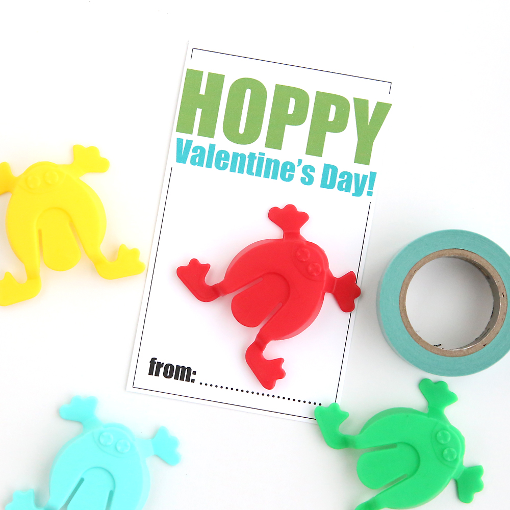 Hopping Frogs Free Printable Valentines Day Cards Its