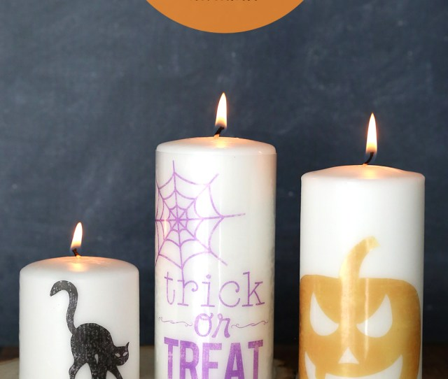 These Cute Halloween Candles Take Less Than  Minutes To Make Click Through For The