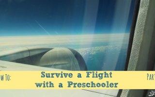 Survive a Flight with a Preschooler