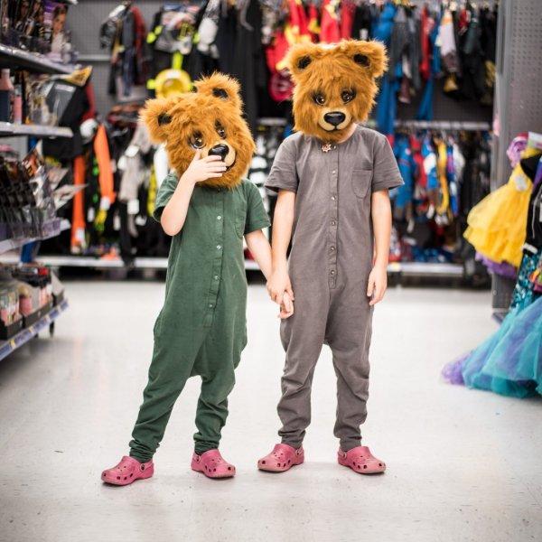 Getting halloween costume ideas before leaving Canada. The girls didn't like my idea!