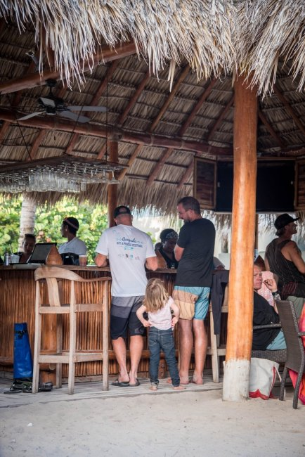 Our baby girl knows her way around a beach bar. The things sailing life has taught her!