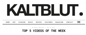 Online PR Kaltbult Magazine Yvat I Am A Bitch Phonik