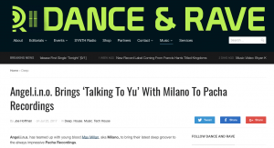 Angel.i.n.o review Talking To Yu Pacha Recordings on danceandrave.com
