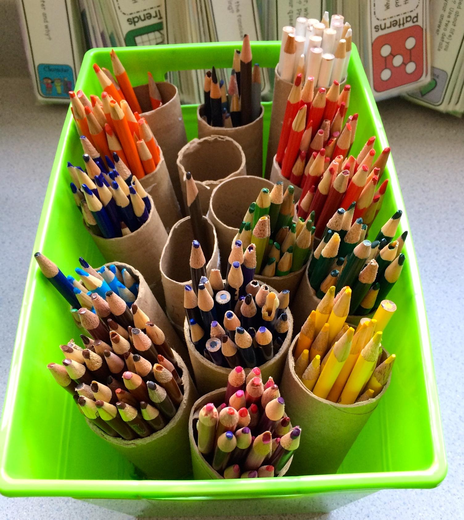 Classroom Organization Colored Pencils