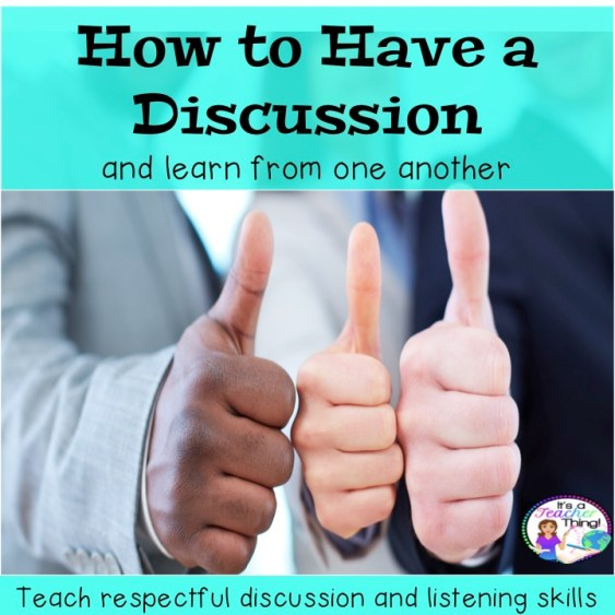 How to have a discussion