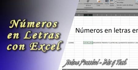 Números en letras en Excel