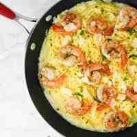 Garlic Shrimp Spaghetti Squash