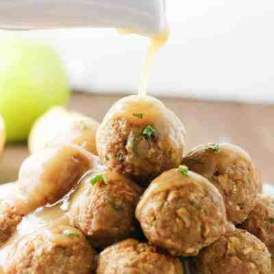 Sage and Apple Turkey Meatballs