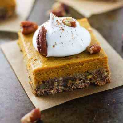 Skinny Pecan Pumpkin Pie Bars