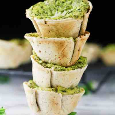 Low Carb Spinach Artichoke Dip Cups