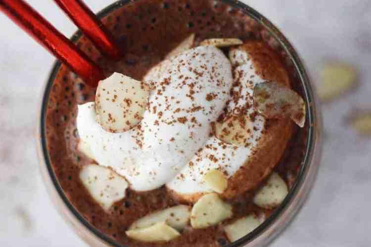 Chocolate Mocha Almond Protein Smoothie