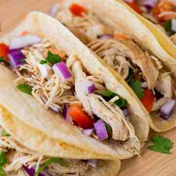 Tacos De Pollo (Mexican Chicken Tacos recipe)