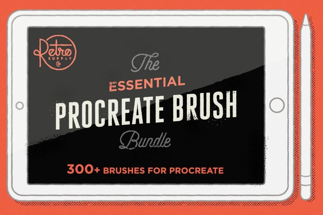 THE ESSENTIAL PROCREATE BRUSH BUNDLE