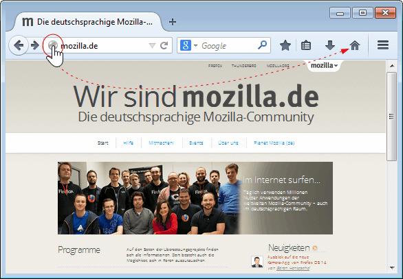 Firefox Startseite ändern