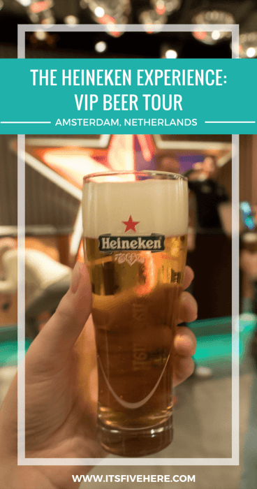 Love beer? If you're in Amsterdam, you've got to take the VIP Tour at the Heineken Experience. Dutch beer, cheese, and good cheer - what more could you ask for?