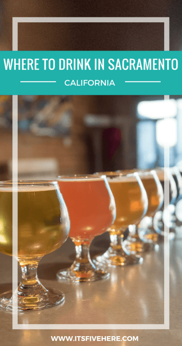 Sacramento, California's capital city, has a surprisingly robust bar scene. From craft beer to cocktails, here are my favorite watering holes in Sacramento.