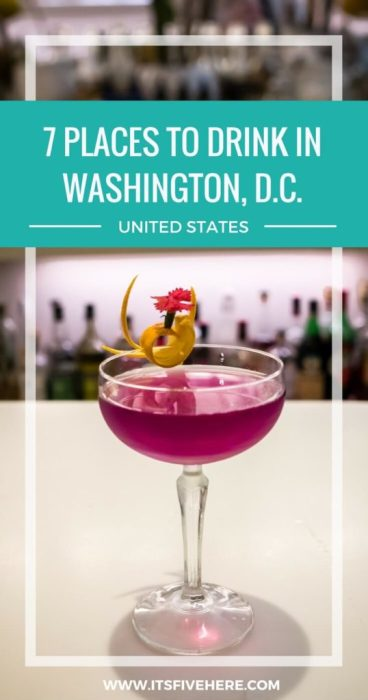 One undeniable truth you can hold to be self-evident: America's capital has great spots to imbibe. Here's our favorite places to drink craft cocktails and wine in Washington, D.C.