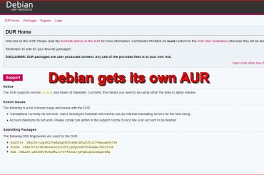Debian gets its own AUR as a DUR