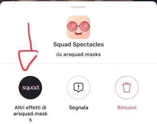 filtro instagram lentiggini e occhiali stories