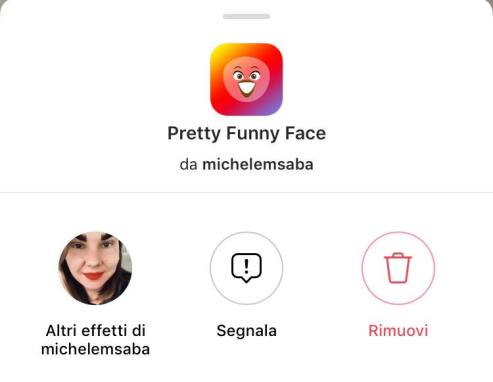 filtro faccia da bambina instagram stories