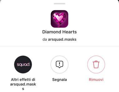 instagram filtro diamanti stories