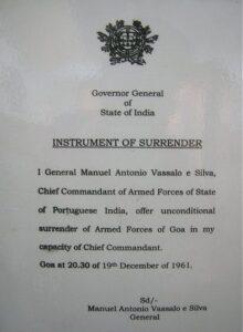 Instrument of Surrender (image credit - www.Kamat.com)