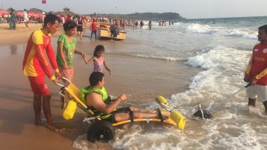 Photo of Wheelchair Users Enjoy an Accessible Beach Experience in Goa