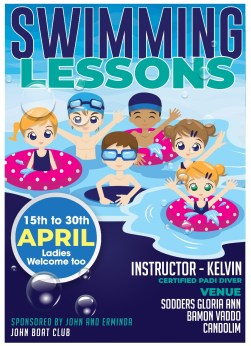 Swimming lessons with Kelvin
