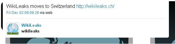 Wikileaks domain .ch