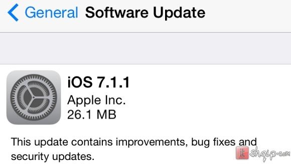 iOS 7.1.1 vjen me disa përmirësime të voglaiOS 7.1.1 vjen me disa përmirësime të vogla