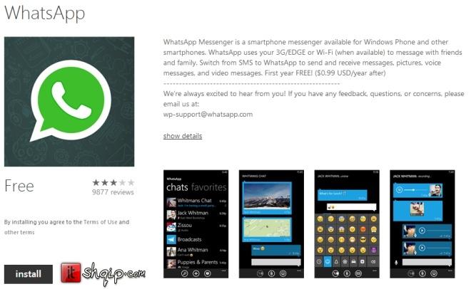 WhatsApp rikthehet në Windows Phone