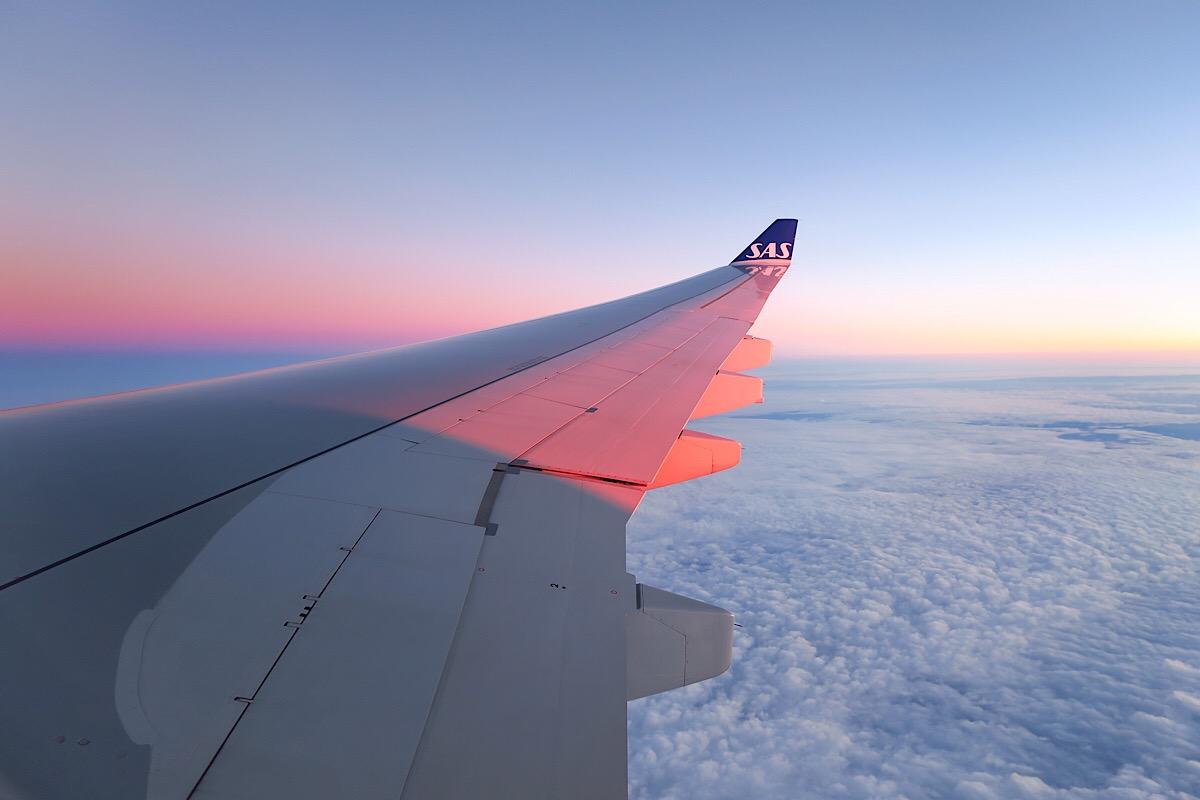 Plane arriving in Japan