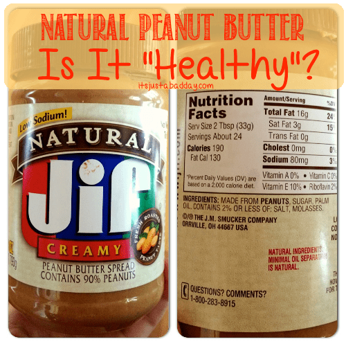 Natural Peanut Butter, Is It 'Natural'? #WellnessWednesday