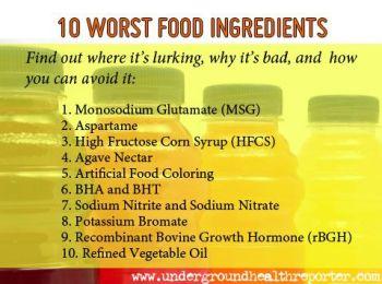 10 Worst Food Ingredients
