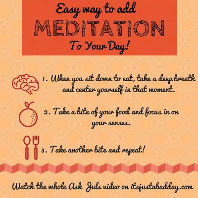3 Simple Steps! What's an easy way to add meditation to your day? | itsjustabadday.com Helping chronically fabulous patients make lifestyle and dietary changes to their lives to help live their best life possible!