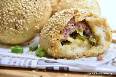 """Hu Jiao Bing Kiln Baked Black Pepper Pork Buns (""""Hu Jiao Bing"""") Taipei Taiwan"""