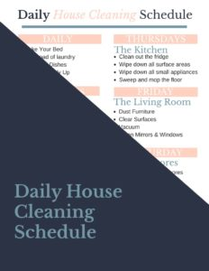 Free Printable Daily House Cleaning Schedule