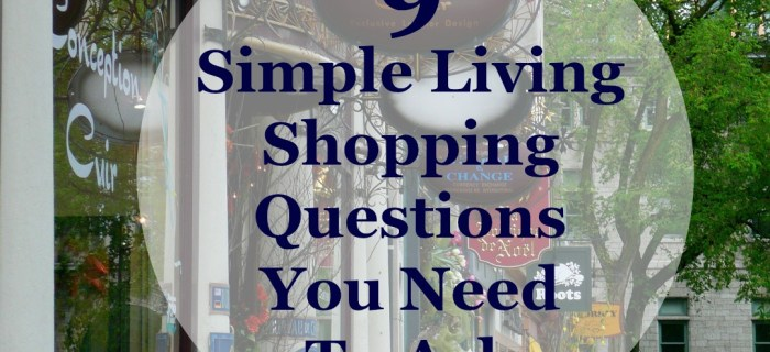 9 Simple Living Shopping Questions You Need To Ask