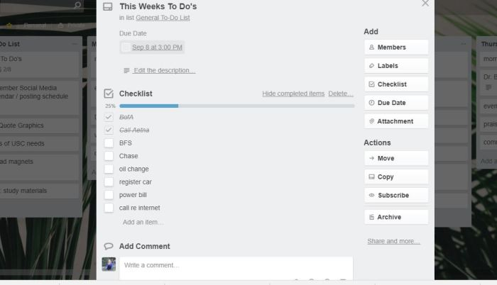simplify and organize with Trello