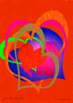Nadia Kronfli, Red Hearts, Valentine card