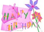 Nadia Kronfli, Word Art, Birthday Card
